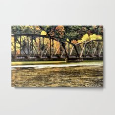 West VA Train Bridge Metal Print