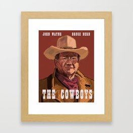 The Cowboys Framed Art Print