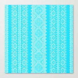 Ukrainian embroidery heavenly azure Canvas Print