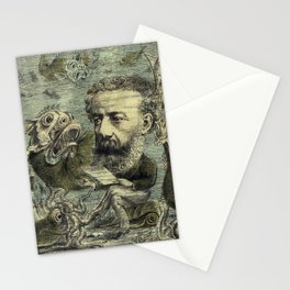 Vintage Jules Verne Periodical Cover Stationery Cards