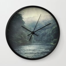 valley and river Wall Clock