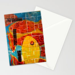 Crossing reds, crackle Stationery Cards