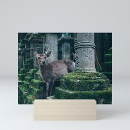 Sika deer standing Mini Art Print