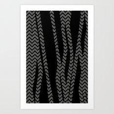 Chevron and Zebra Art Print