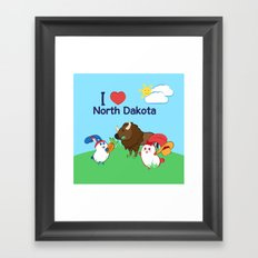 Ernest and Coraline | I love North Dakota Framed Art Print