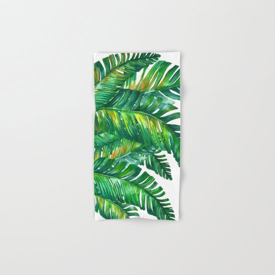 tropical green 2 Hand & Bath Towel