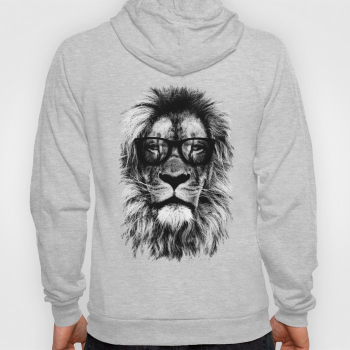 Hipster Lion Black Hoody