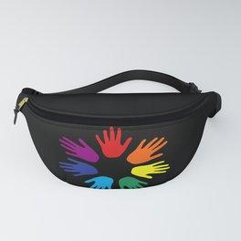 Rainbow hands Fanny Pack