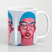 austin Mugs featuring AUSTIN by Zelda Bomba