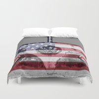 vw Duvet Covers featuring VW Rusty USA by Alice Gosling