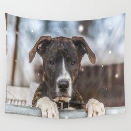 Cute Mastiff Rottweiler Mix  Puppy Wall Tapestry