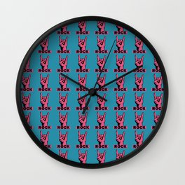 Rock Baby Rock Wall Clock
