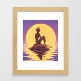 The Little Merman Framed Art Print