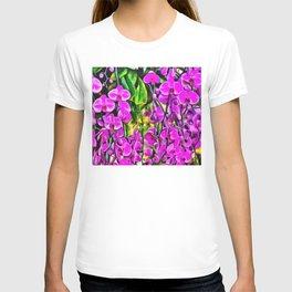 Purple Painterly Orchid Vines T-shirt