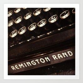 Remington Rand Art Print