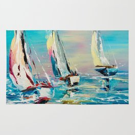 YACHTS ON THE WIND Rug