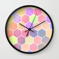 wonderland Wall Clocks featuring Wonderland by Alexandre Reis