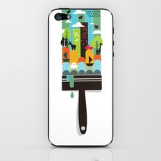 Paint your world iPhone & iPod Skin