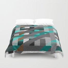 Line Tiles Textured Duvet Cover
