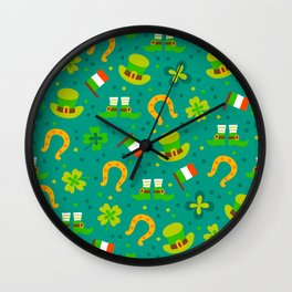 St Patrick's Day: Irish Luck Pattern Wall Clock