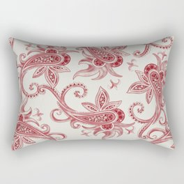 Paisley: Vintage RED  Rectangular Pillow
