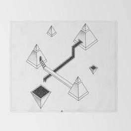 Space Pyramids Throw Blanket