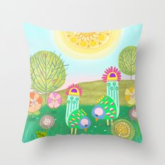 Chelsea Birds Throw Pillow
