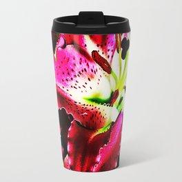 Fragrant red lilies Travel Mug