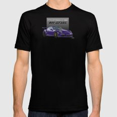 Porsche 911 GT3 RS in Ultraviolet MEDIUM Black Mens Fitted Tee