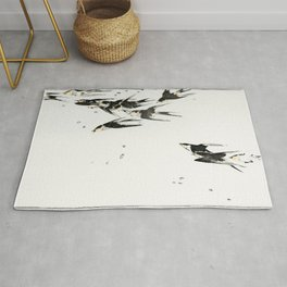 Wantanabe Seitei - Flying magpies Rug