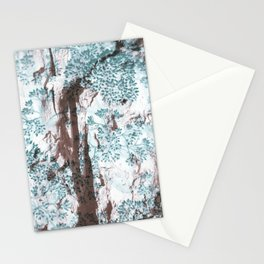 Split Wood Textile Stationery Cards