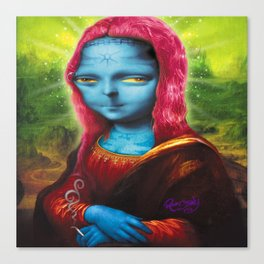 Blue Mona Canvas Print