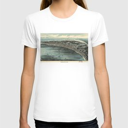 Vintage Pictorial Map of Provincetown (1910) T-shirt