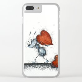 Slaves of love Clear iPhone Case