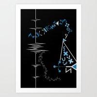 A-Z PARALLEL Art Print