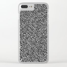 Monochromatic Abstract Clear iPhone Case