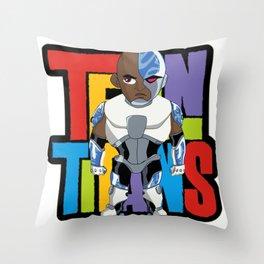 Teen Titans - Cyborg v2 Throw Pillow