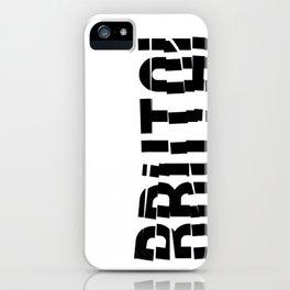 Brutal Studio Red Logo iPhone Case