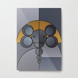 ANIminiMAL - Animal Minimal Elephant Art Print Metal Print