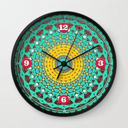 Chicks and Hens Mandala Wall Clock