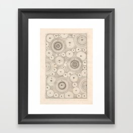 """Art from Thomas Wright's """"An Original Theory or New Hypothesis of the Universe,"""" 1750 Framed Art Print"""