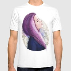 Pink hair Mens Fitted Tee White MEDIUM