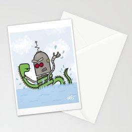 Loch Ness Monster vs. Evil Robot Stationery Cards