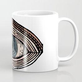 Eye of Providence in Color (transparent design) Coffee Mug