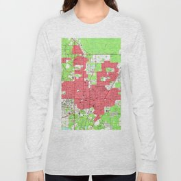 Vintage Map of Gainesville Florida (1966) 2 Long Sleeve T-shirt