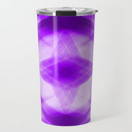 Bright warm triangular strokes of intersecting sharp lines with sapphire triangles and a star. Travel Mug