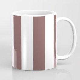 Mauve Purple Puce and White Cabana Stripes Coffee Mug