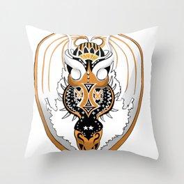 Copperhead Dragon Throw Pillow