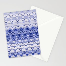 Aztec pattern light blue Stationery Cards