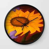 sister Wall Clocks featuring Sister by Jessica Nicole Pacheco